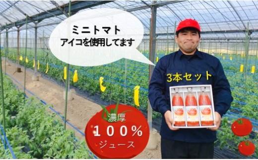 AH2    熊本玉名産100% トマトジュース(1リットル×3本)