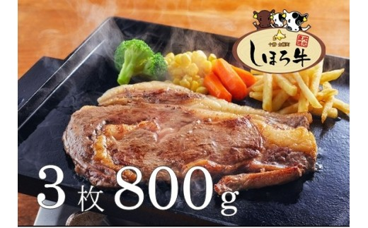【S04】しほろ牛リブロースステーキ(3枚800g)