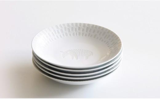 QA69 natural69 ZUPA white取皿5枚セットヒツジ/バク/キリン/シマウマ/サル-7