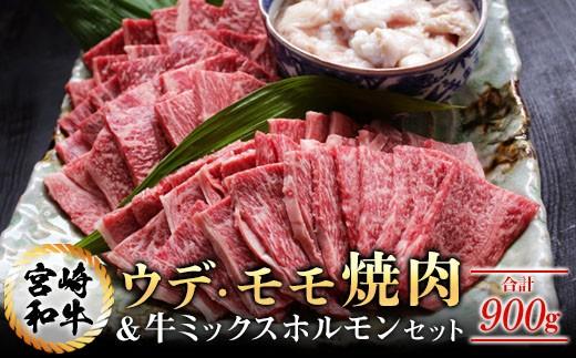 AA29 『都農町特選』宮崎和牛ウデ・モモ焼肉&牛ミックスホルモンセット