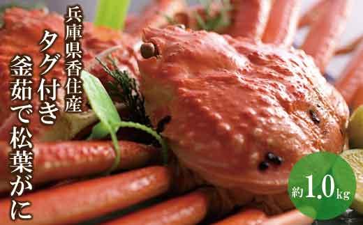07-07  兵庫県香住産 タグ付き釜茹で松葉がに 約1.0kg