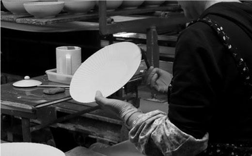CC14 【波佐見焼】 しのぎ 小鉢・大皿セット(アメ釉) 【ふるさと納税限定】【一龍陶苑】-5