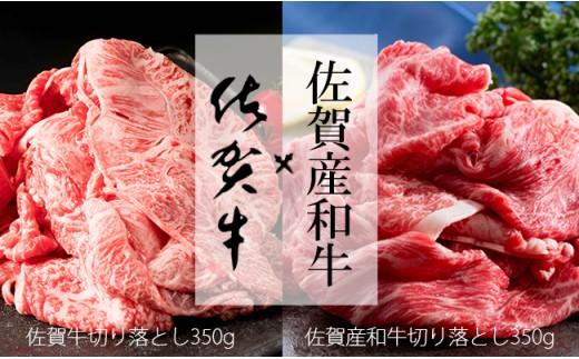N20-28【佐賀のお肉セット700g】佐賀牛切り落とし350g&佐賀産和牛切り落とし350g