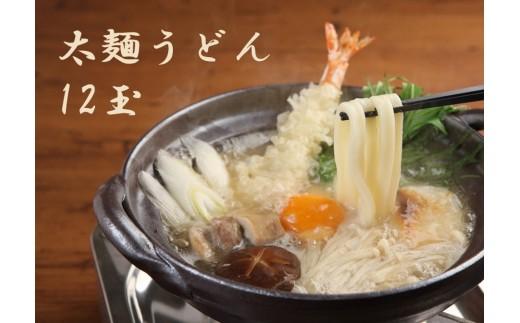 B0045.【冷凍】奇跡のうどん(太麺)12玉(だし付)【グルメ杵屋】