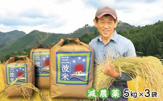 D-28  令和元年産 新米先行予約!!【減農薬】三波農地を守る会のコシヒカリ(新米15㎏)
