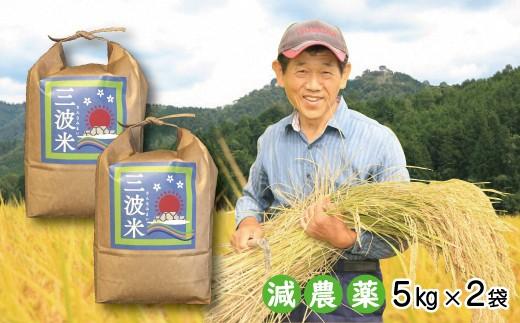 C-50  令和元年産 新米先行予約!!【減農薬】三波農地を守る会のコシヒカリ(新米10㎏)