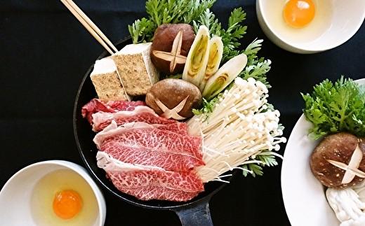 今夜はすき焼き♪ ※画像はイメージです。卵・野菜は商品に含まれません