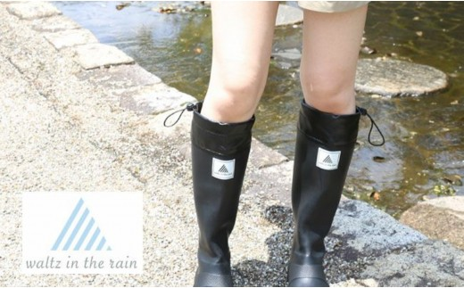 [A-8051] 【Waltz in the rain】 2way long & short ラバーレインブーツ ~雨の日を楽しむ大人のスタイル~