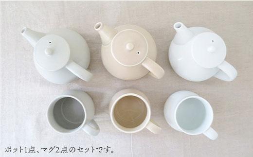 JD08 【波佐見焼】h+ potaポット・マグセット【堀江陶器】-3