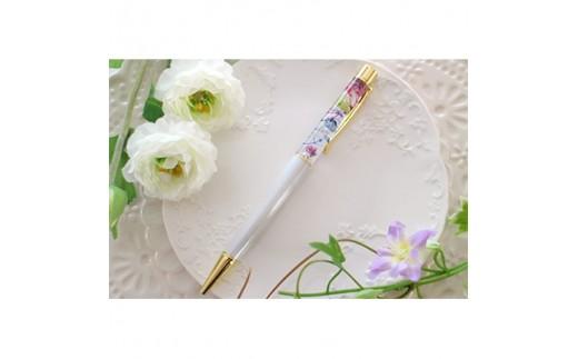 ハーバリウムボールペン(ホワイト)1本 ケース入り【1078593】