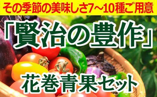 賢治の豊作 花巻産旬野菜セット 【380】