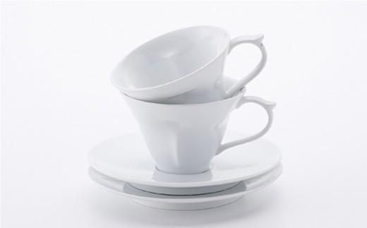 AB18 【波佐見焼】幸せのサプライズ 水晶ストーリーカップ コーヒー碗皿2客セット【丹心窯】-5