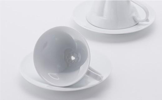 AB18 【波佐見焼】幸せのサプライズ 水晶ストーリーカップ コーヒー碗皿2客セット【丹心窯】-6