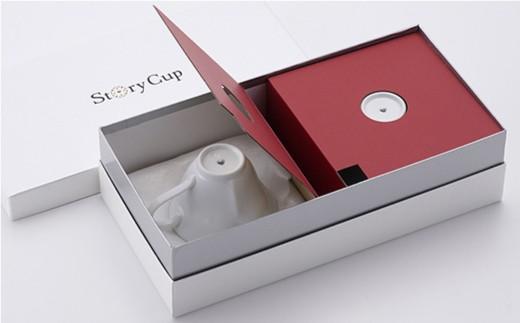 AB18 【波佐見焼】幸せのサプライズ 水晶ストーリーカップ コーヒー碗皿2客セット【丹心窯】-8