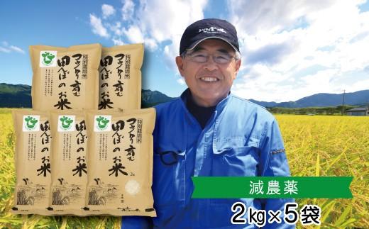 C-11 新米!特別栽培米 コウノトリ育む田んぼのお米(2㎏×5袋)〈村上ファーム〉