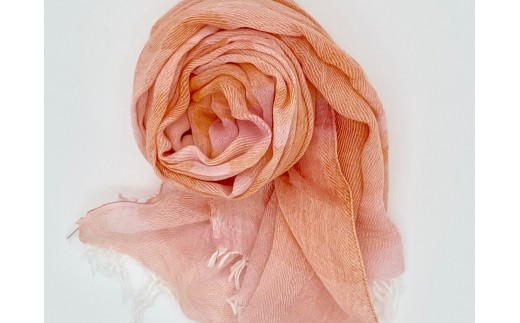 【播州織】オレンジ系ストライプ三重織ストール160cm×60cm ~織物職人×紋紙職人が作るストール~