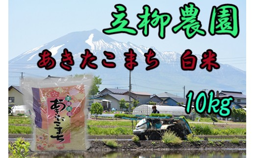 HMG356 【平成30年度産米】立柳農園のあきたこまち白米 10kg