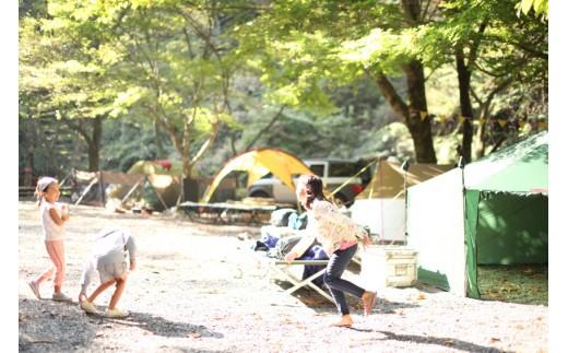 K01 不動の滝自然広場オートキャンプ場 ペア宿泊券