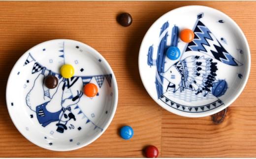 QA71 【波佐見焼】natural69 豆皿 5枚セット(ナマケモノ/ペンギン/ハリネズミ/シロクマ/ブタ)-7