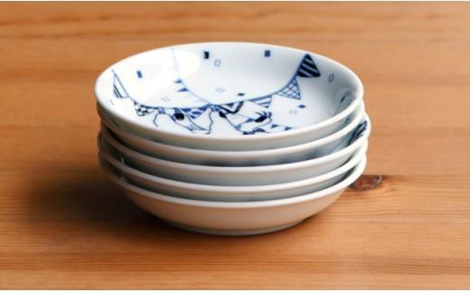 QA71 【波佐見焼】natural69 豆皿 5枚セット(ナマケモノ/ペンギン/ハリネズミ/シロクマ/ブタ)-8