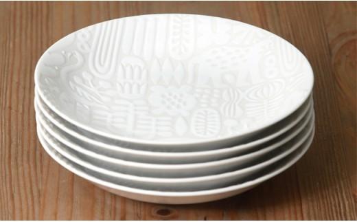 QA89 【波佐見焼】natural69 Utopia取皿 ホワイト 5枚セット-8