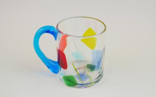 【琉球ガラス匠工房】ガラスマグカップ「ティーラの唄」