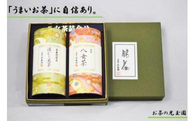 【お茶の光玉園】八女茶ギフト 120g×2缶セット