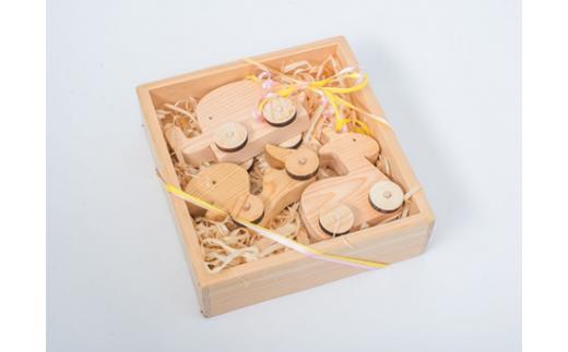 EB-⑩ ころがるおもちゃ 木ろっこ3個入り