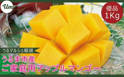 【優品】うるま市産マンゴー1キロ【2019年7月お届け】