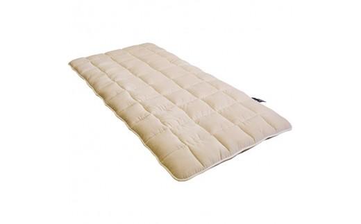ダイアナ敷き布団 シングル(中綿・英国羊毛100%/表面・綿100%ボア)【1080048】