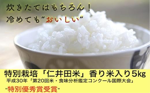 Bmu-31 四万十育ちの美味しい「仁井田米」。香り米入りのお米5kgをすぐ配送