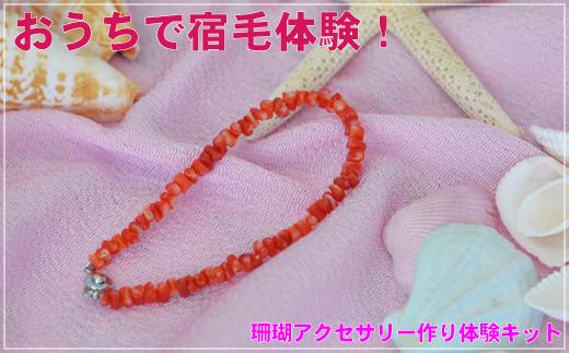 [051422]珊瑚アクセ作り体験キットA(血赤珊瑚ヤタラブレスレット)