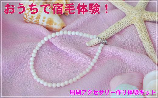 [051427]珊瑚アクセ作り体験キットF(白珊瑚玉ブレスレット)