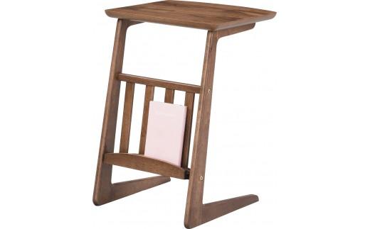 サイドテーブル ブックスタンド ウォルナット 完成品 1台