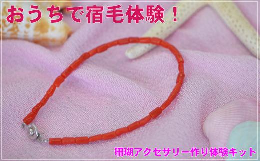 [051423]珊瑚アクセ作り体験キットB(赤珊瑚ブレスレット)