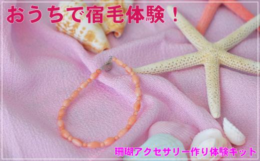 [051424]珊瑚アクセ作り体験キットC(深海珊瑚玉&ライス玉ブレスレット)