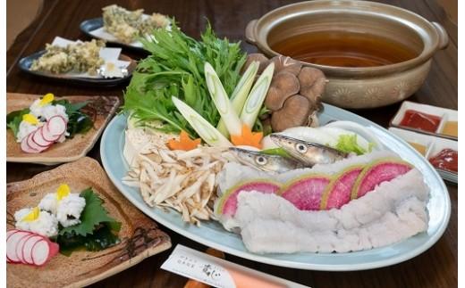夏季限定!旬の「ハモ」鍋コース。ハモ鍋/湯引き/ハモの大場天ぷら/〆付。贅沢なひと時をお過ごしください。