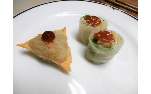 3.野菜のサモサ・生春巻き