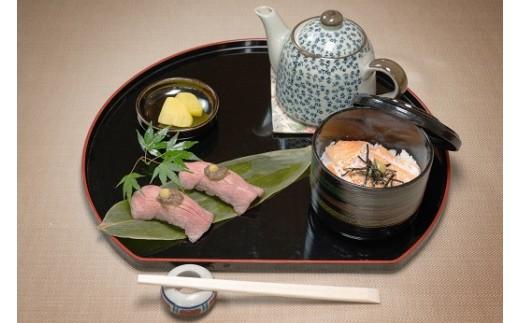 7.西脇ローストビーフの握り寿司・トロサーモンのお茶漬け