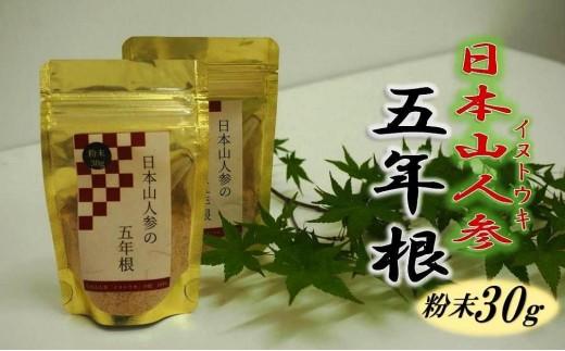 日本山人参の五年根/粉末30g