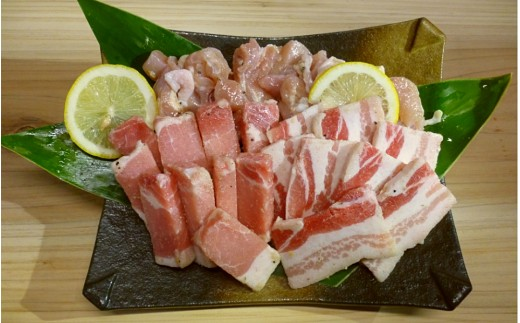 種子島産の「天日塩」で味付けして、焼肉サイズでカット済み! とっても便利です。後は、焼くだけ♪ 食べるだけ♪