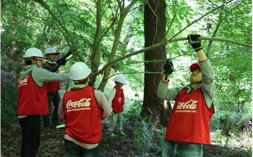 水資源保護の為、周辺地域の協力を得ながら、植林や山の景観保全などに努めています