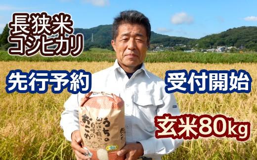 10-34【先行予約】長狭米コシヒカリ玄米80㎏(精米に変更可)