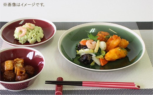 VA34 【波佐見焼】シャイニーカラー プレート 大 6枚セット【陶芸ゆたか】-2