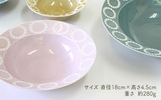 VA40 【波佐見焼】サークルリング ボウル中 3色セット【陶芸ゆたか】-3