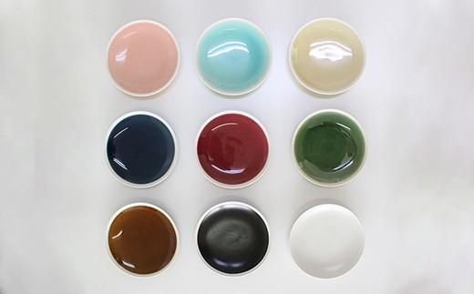 VA36 【波佐見焼】シャイニーカラー プレート 小皿 9枚セット【陶芸ゆたか】-3