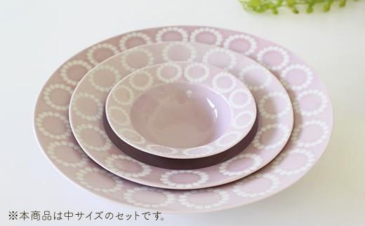 VA40 【波佐見焼】サークルリング ボウル中 3色セット【陶芸ゆたか】-6
