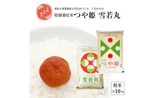 SA0251 令和元年産米 つや姫5kg、雪若丸5kg 「農家直送」 KA
