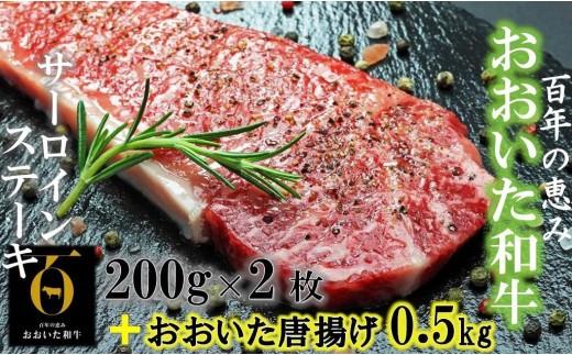 おおいた和牛サーロイン200g×2+鶏唐揚げ0.5kg