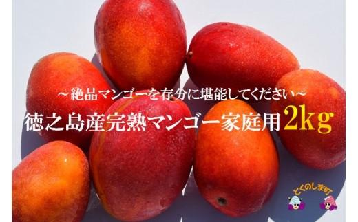 658【家庭用】徳之島産完熟マンゴー約2kg(4~9玉)